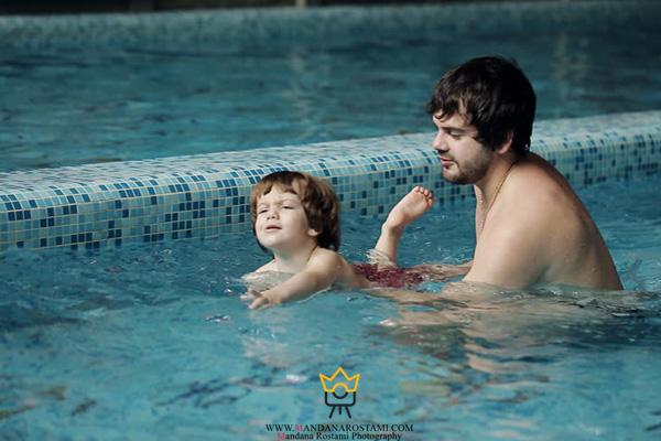 ژست شنا کودک و نوزاد