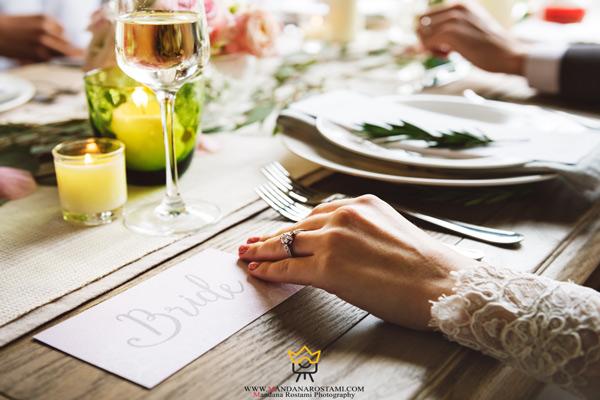 عکس از میز شام عروس