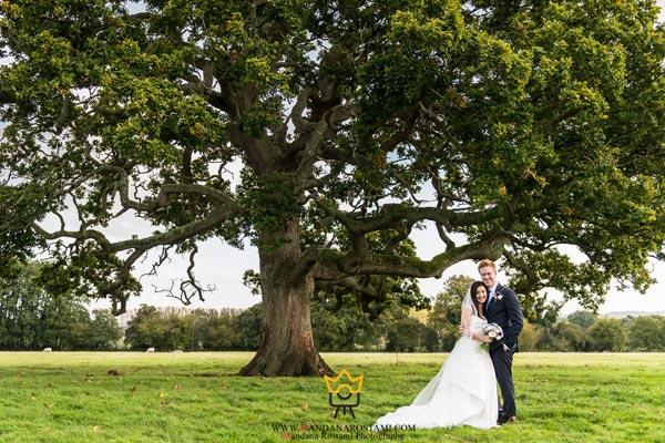 عکاسی عروسی در پارک