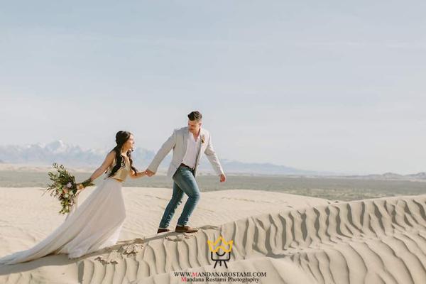 عکاسی عروسی در کویر