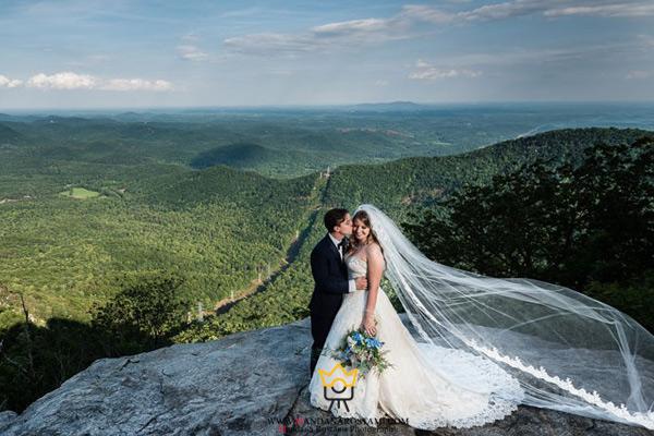 عکاسی عروسی در جنگل