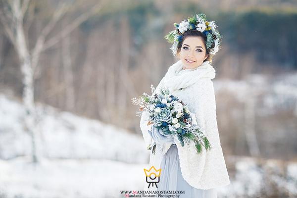 لباس زمستانی عروس