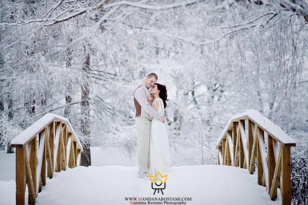 بهترین سوژه های عکاسی عروس در فصل زمستان