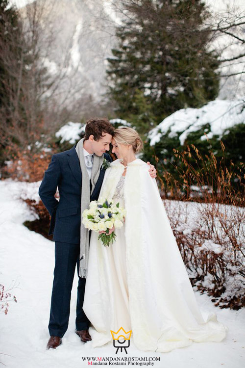 نکاتی در ژست عکاسی عروس در زمستان