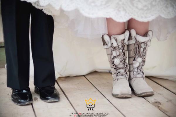 کفش زمستانی عروس و داماد