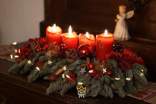 شمع آرایی شب کریسمس