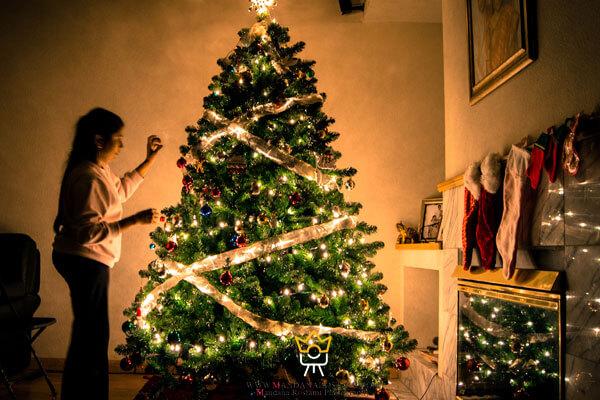 گرفتن عکس از مراحل آماده شدن جشن کریسمس