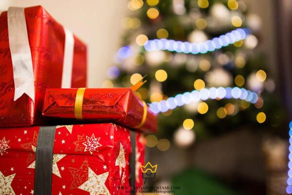 عکاسی از جعبه کادو های شب کریسمس