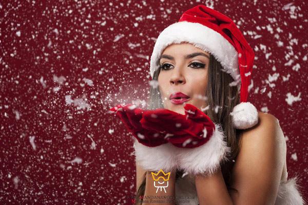 گرفتن عکس از کلاه بابانوئل