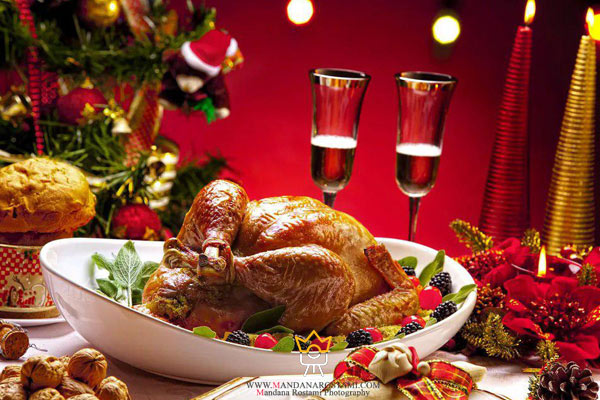 میز شام کریسمس