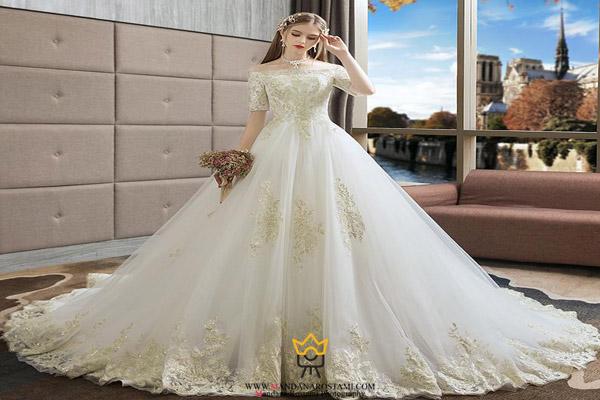 مدل لباس عروس دانتل