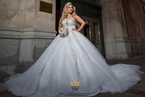 مدل لباس عروس پفی
