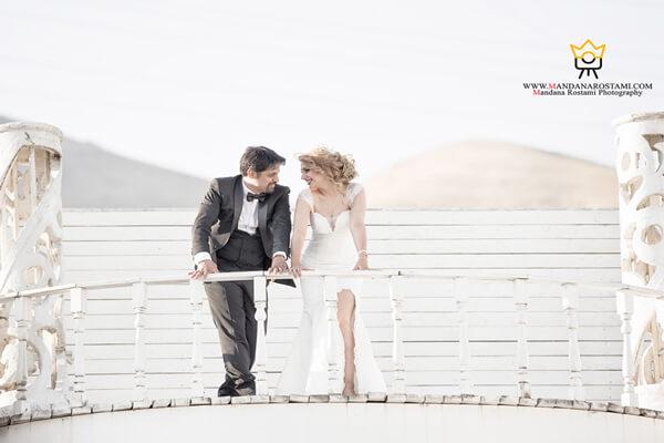 عکاسی عروس داماد در عمارت