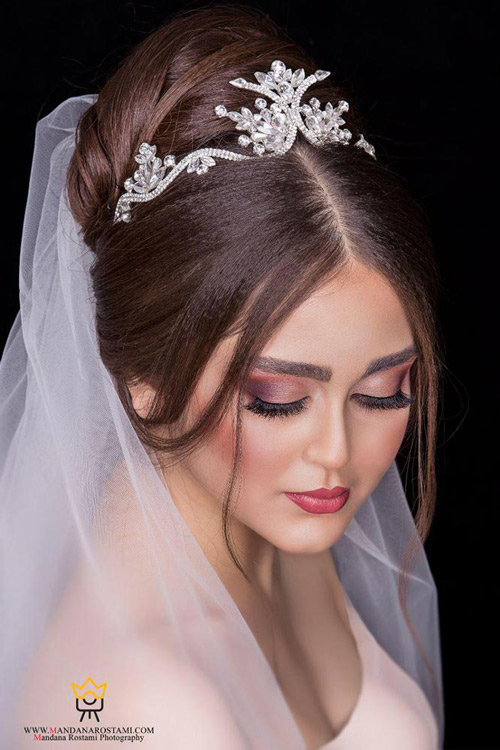 نمونه کار عکس عروس داماد در آتلیه