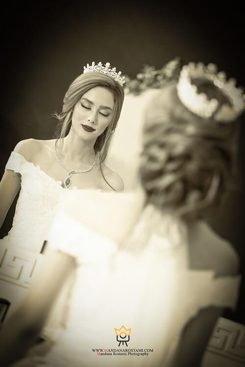 عکاسی عروس داماد در آتلیه