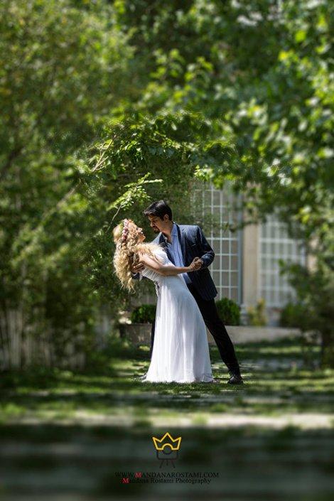 نمونه کار عکس عروس داماد در عمارت