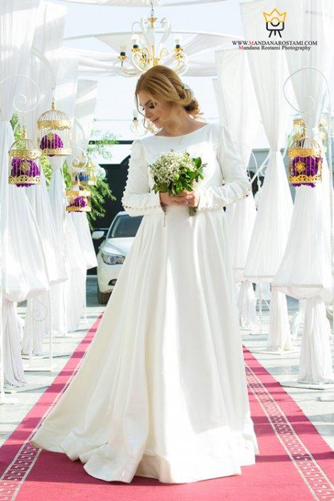 عکاسی عروس داماد در تالار