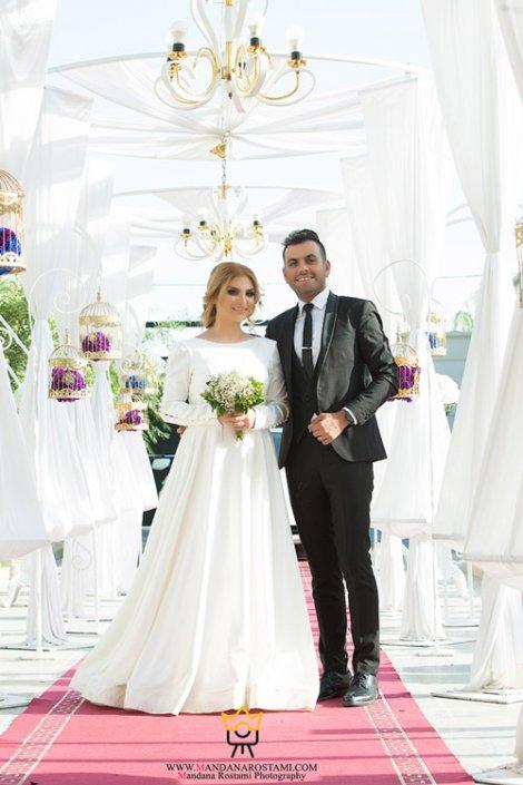 نمونه کار عکس عروس داماد در تالار