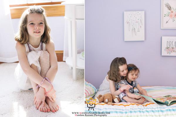 ژست های جدید عکس کودک در منزل