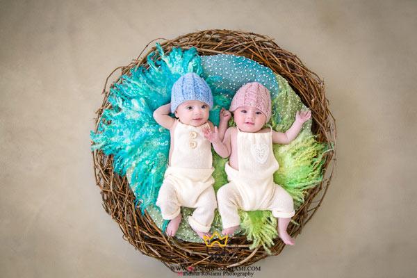 ژست های مناسب عکاسی نوزاد