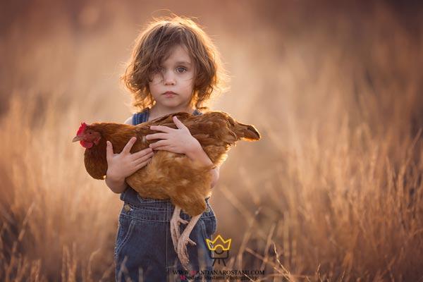 آتلیه عکاسی کودک ماندانا رستمی و عکس کودک در طبیعت