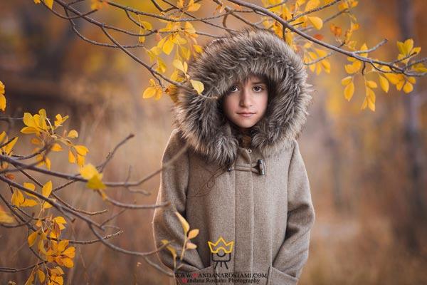 عکاسی از کودک در طبیعت و چهار فصل سال