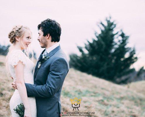 جدیدترین عکس عاشقانه عروس و داماد ایرانی 98
