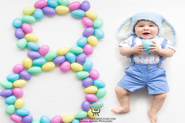 لباس مناسب برای عکاسی از نوزاد پسر