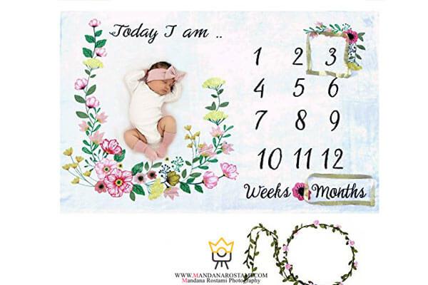ایده های جالب عکس ماهگرد نوزاد دختر و پسر