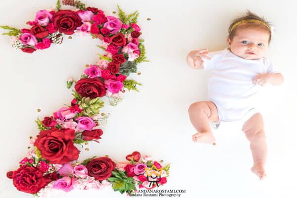 لباس مناسب برای عکاسی از نوزاد دختر